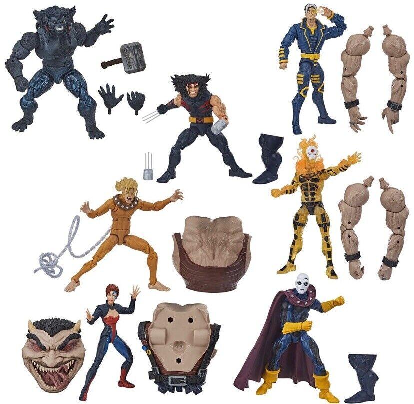 Marvel Legends XMEN 2020 WAVE 1 Set SUGAR uomo BAF PRESALE età dell'Apocalisse