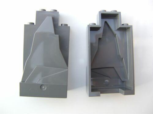 - 4513326 Parts /& Pieces 2 x Lego Grey Rock panel size 2x4x6