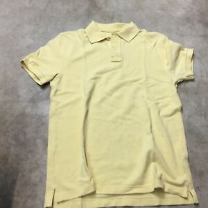 Details about mens j crew vintage polo shirt yellow small short sleeve