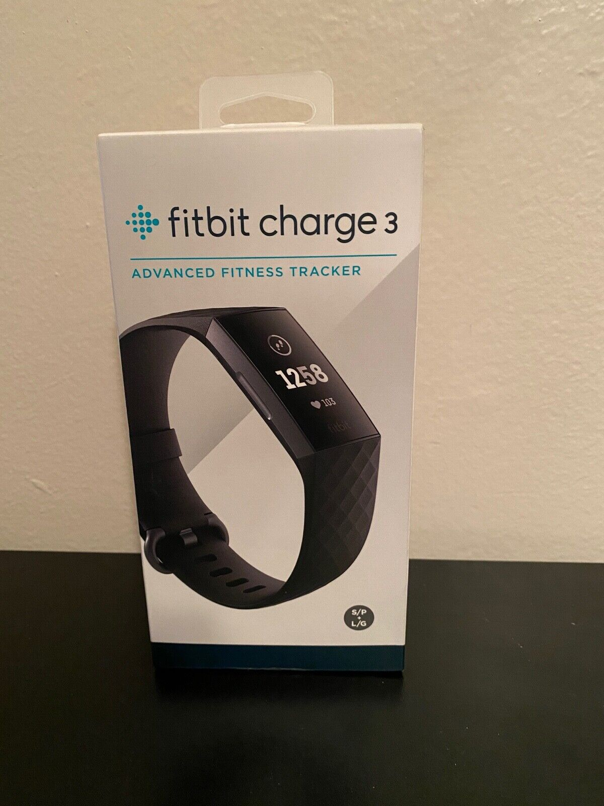 Fitbit Charge 3 Fitness Activity Tracker - Graphite/Black L/G