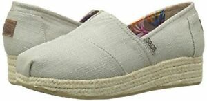 NEW-BOBS-from-Skechers-Women-039-s-Highlights-Flexpadrille-Wedge-Taupe-Pick-A-Size