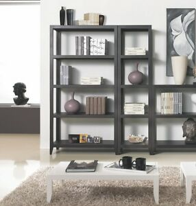 Mobile soggiorno libreria 4 ripiani scaffale ebay for Mobile divisorio soggiorno