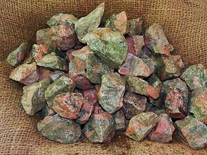 3000-Carat-Lots-of-Unakite-Rough-Plus-a-FREE-Faceted-Gemstone
