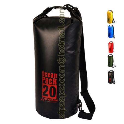KARANA OCEAN viaggiare secco giorno Pack Impermeabile Kayak Shoulder Bag Zaino 20L
