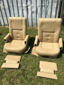 Groovy Details About Flexsteel Power Rv Captains Chairs Tan Motorhome Coach Seat Passenger 12V Elect Unemploymentrelief Wooden Chair Designs For Living Room Unemploymentrelieforg