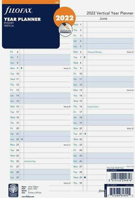 A5 Jahresplaner Vertikal 2022 Tagebuch Filofax