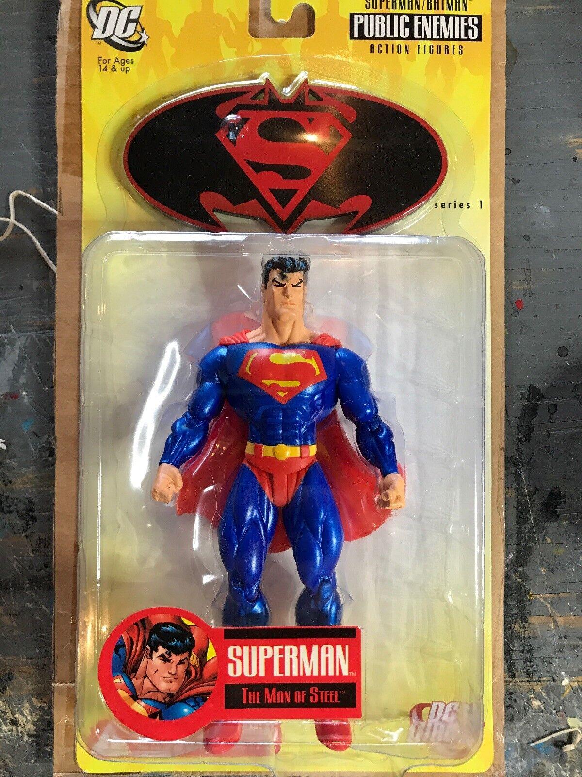 2005-DC DIRECT -Superman FIGURE-PUBLIC ENEMIES MISP SER.1-CASE SER.1-CASE SER.1-CASE FIGURE MINT a909a7