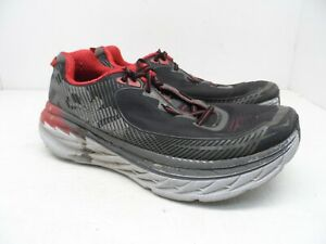 HOKA-ONE-ONE-Men-039-s-BONDI-5-Running-Shoes-Black-Formula-One-Gray-Size-8-Wide-2E
