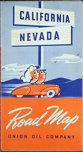 1940-Union-Oil-Company-California-Road-Map-Vintage-Auto-Car-Tour-Petroliana