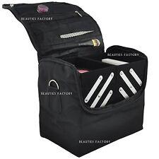 Multi-Function Black Make up Case Box Nail Tech Beautician Extendable Bag AZ340