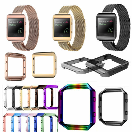 Magnetic-Milanese-Stainless-Steel-Loop-Wrist-Watch-Band-Strap-For-Fitbit-Blaze