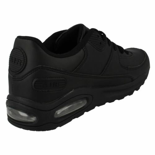 Mens Intercept Black Synthetic Lace Up Trainer By Air Tech £19.99