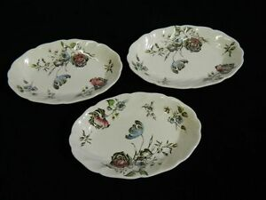 Set-of-3-Vintage-Johnson-Brothers-034-Day-in-June-034-Relish-Trays-Made-in-England