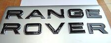 NEW BLACK RANGE ROVER CHROME EDGE 3D LETTERING BONNET TAILGATE BADGE LOGO