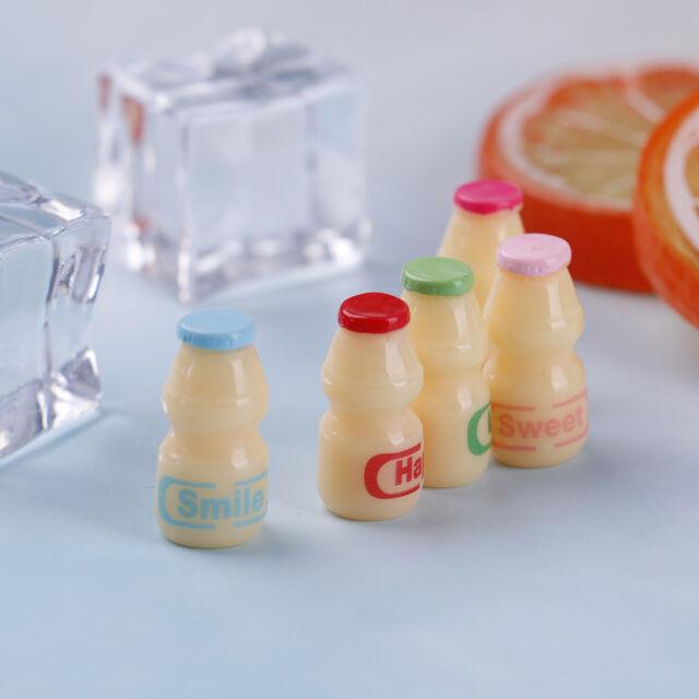 1:12 Dollhouse miniature Japanese and Korean food accessory yogurt bottle 2Pcs