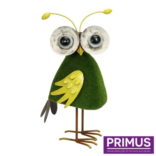 Primus Metal Boggly Eyed Owl Garden Ornament Bird Sculpture Gift Ideas PQ1769