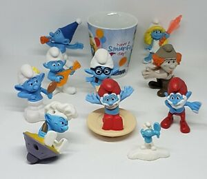 Collectable-SMURFS-Ceramic-Mug-Bright-Colours-amp-10-McHappy-Figurines-Toys2011-17
