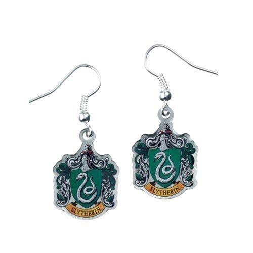 Harry Potter versilbert Slytherin Wappen Tropfen Ohrringe auf Karten