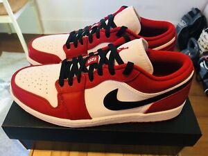 Custom Nike Air Jordan 1 Low Chicago Og Men S Size 10 5 Gym Red