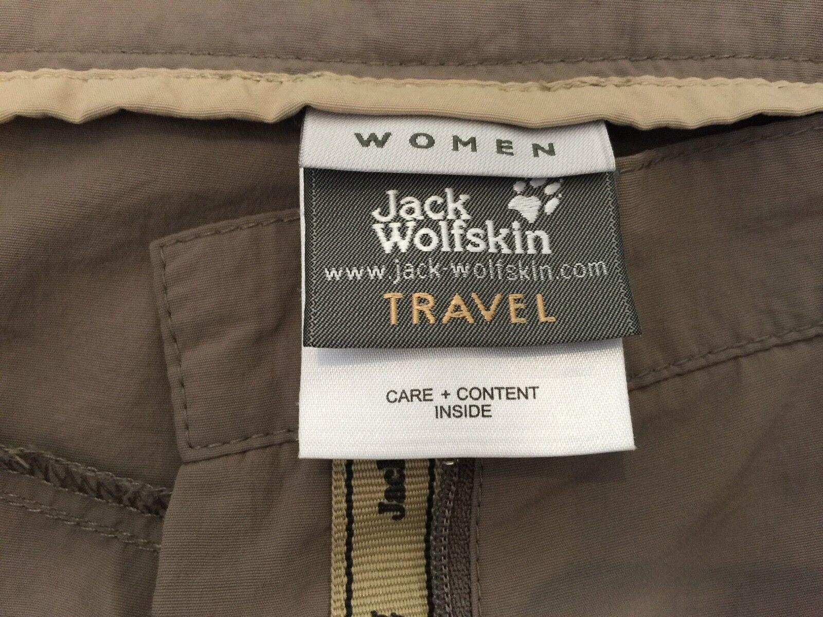 Zwei Jack Wolfskin Damen Hose Bermuda Travel beige braun Gr Gr Gr  34 JW-H-1 5c0853