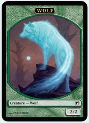 Scars of Mirrodin FREE US SHIPPING! C MTG X2: Wolf Token Light Play