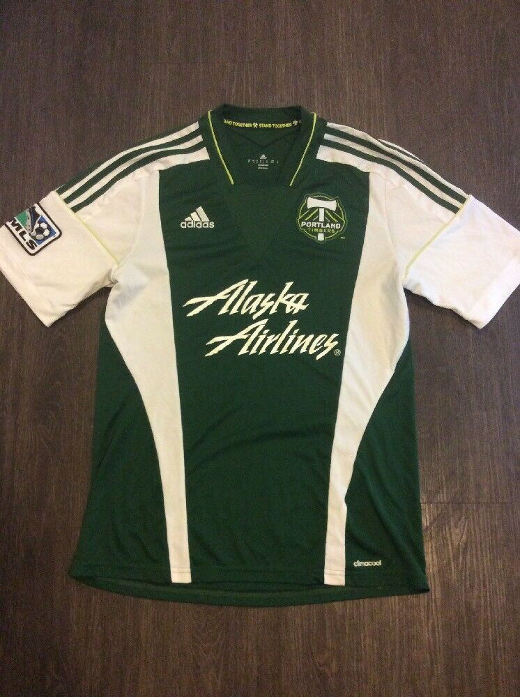 adidas Authentic MLS Jersey Portland Timbers Team Green Mens talla M