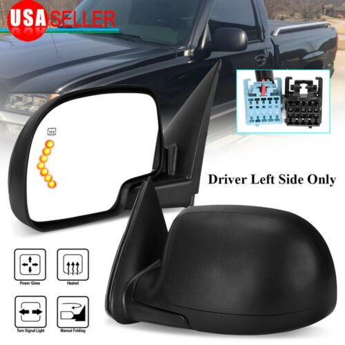 Driver Left Side Mirror for 2003-2006 Silverado Sierra Power Heated LED Signal