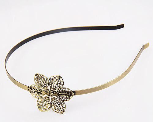 1pcs Fashion Women's flower leaves Headband Antique Bronze Color