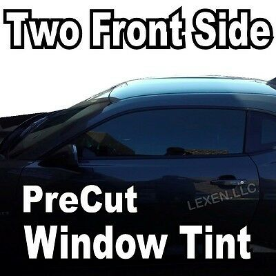 TWO FRONT PRECUT WINDOW TINT KIT COMPUTER CUT TINTING GLASS FILM CAR ANY SHADE c