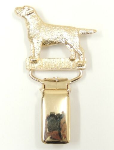 Labrador Show Ring Clip//Number Holder In Silver or Gold