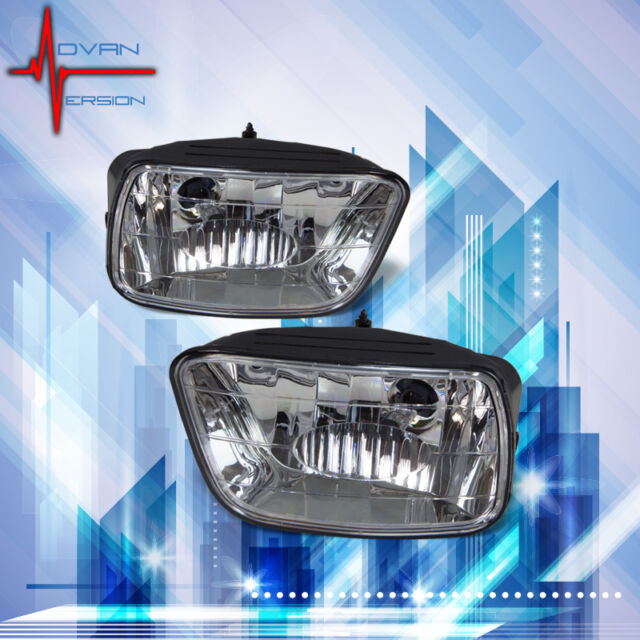 02-09 Chevrolet Trailblazer Fog Lights Clear Lens Front Bumper Lamps PAIR