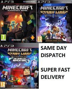 PS3-Minecraft-PS3-modalita-storia-GIOCHI-ASSORTITI-Menta-consegna-super-veloce