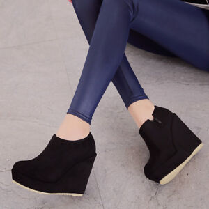 women-high-platform-heel-wedge-ankle-boots-round-toe-suede-zipper-shoes-big-size