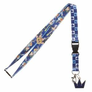 Disney-Kingdom-Hearts-Lanyard-with-ID-Holder-amp-Charm-New