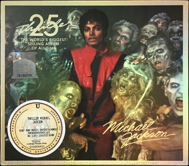 MICHAEL JACKSON Thriller 25th Anniversary 2008 MALAYSIA CD + DVD + 2D SLIPCASE