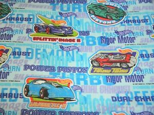 Image Is Loading HOT WHEELS Cars Twin Flat Bed Sheet Vintage