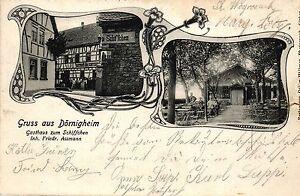 """Maintal - Dörnigheim, Gasthaus """"Zum Schiffchen"""", 1907 in Dörnigheim versandt - Brachttal, Deutschland - Maintal - Dörnigheim, Gasthaus """"Zum Schiffchen"""", 1907 in Dörnigheim versandt - Brachttal, Deutschland"""