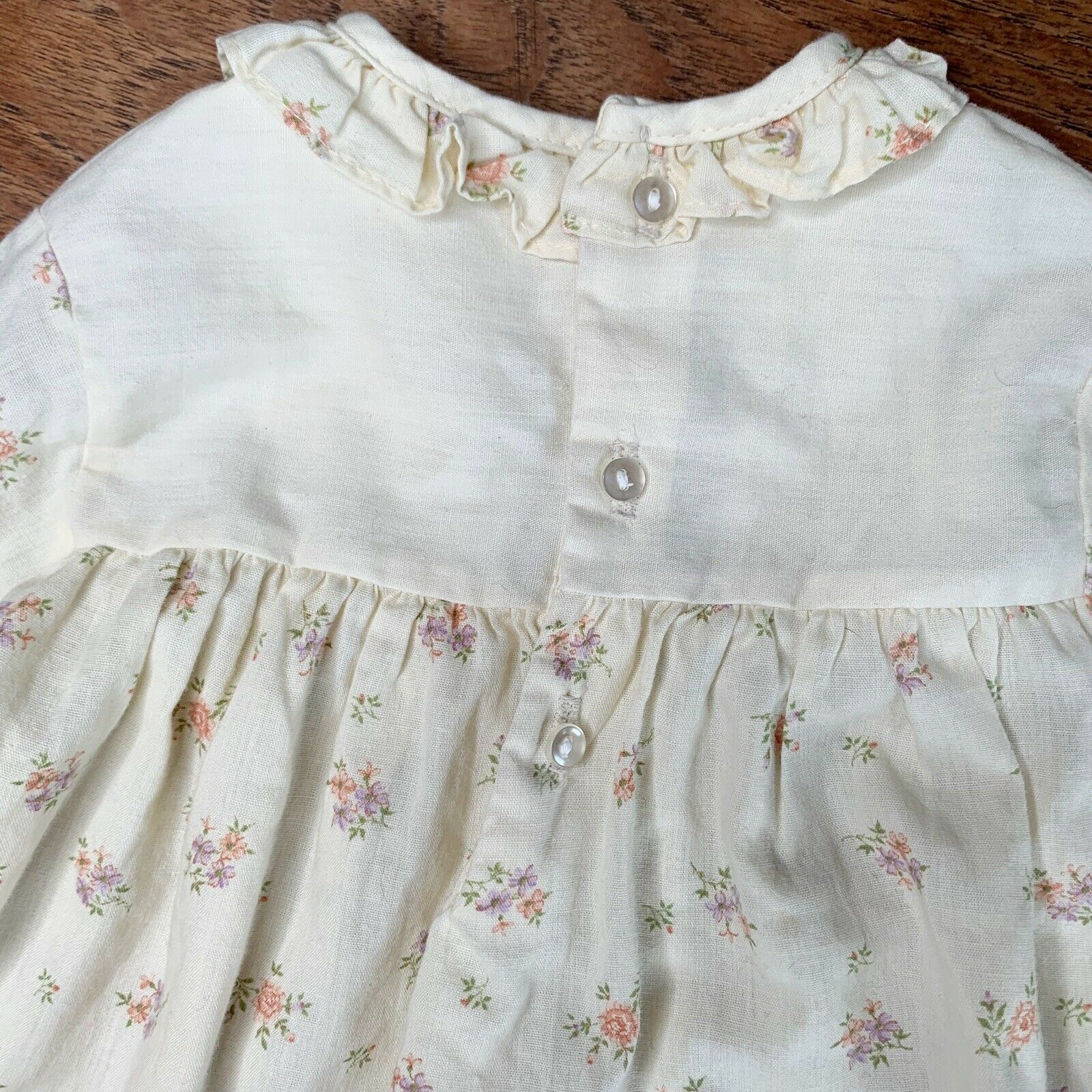 Vintage Girls 3T Tiered Prairie Dress Floral Lace… - image 5