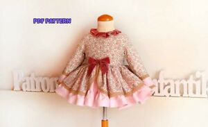 61a53806ac4ca Details about DIY-PDF SEWING PATTERN for making Romantic DRESS Baby Girls  1-10Y Spanish design