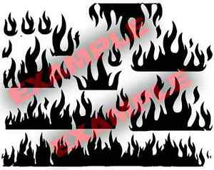 Duracoat-Cerakote-Flames-Stencil-Vinyl-Paint-Camouflage-Camo-Home-DIY-Decal-Fire