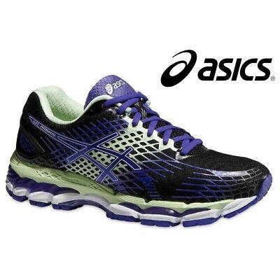 Asics Gel Nimbus 17 T557N Damen Laufschuhe Onyx Purple Mint  35.5-40