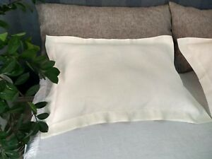 LINEN-OXFORD-PILLOWCASE-Softened-King-Queen-Flax-PILLOW-SHAM-White-Gray-colors