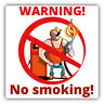 "No Smoking Area Warning Sign Car Bumper Sticker Decal 5"" x 5"""