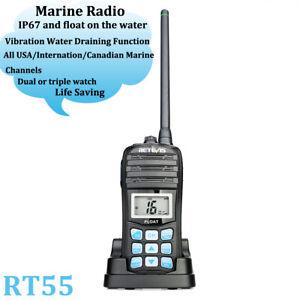 Details about Retevis RT55 Walkie Talkie VHF Marine CH 2-Way Radio NOAA  Weather Alert IP67