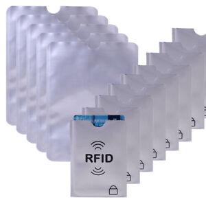 20x-Kreditkarte-RFID-Schutzhuelle-5x-Personalausweis-Kartenhuelle-Bankkarte-NFC