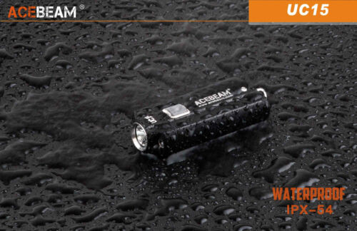 Acebeam UC15 Cree XP-L Max.1000 Lumens Keychain Flashlight in Color Silver NEW