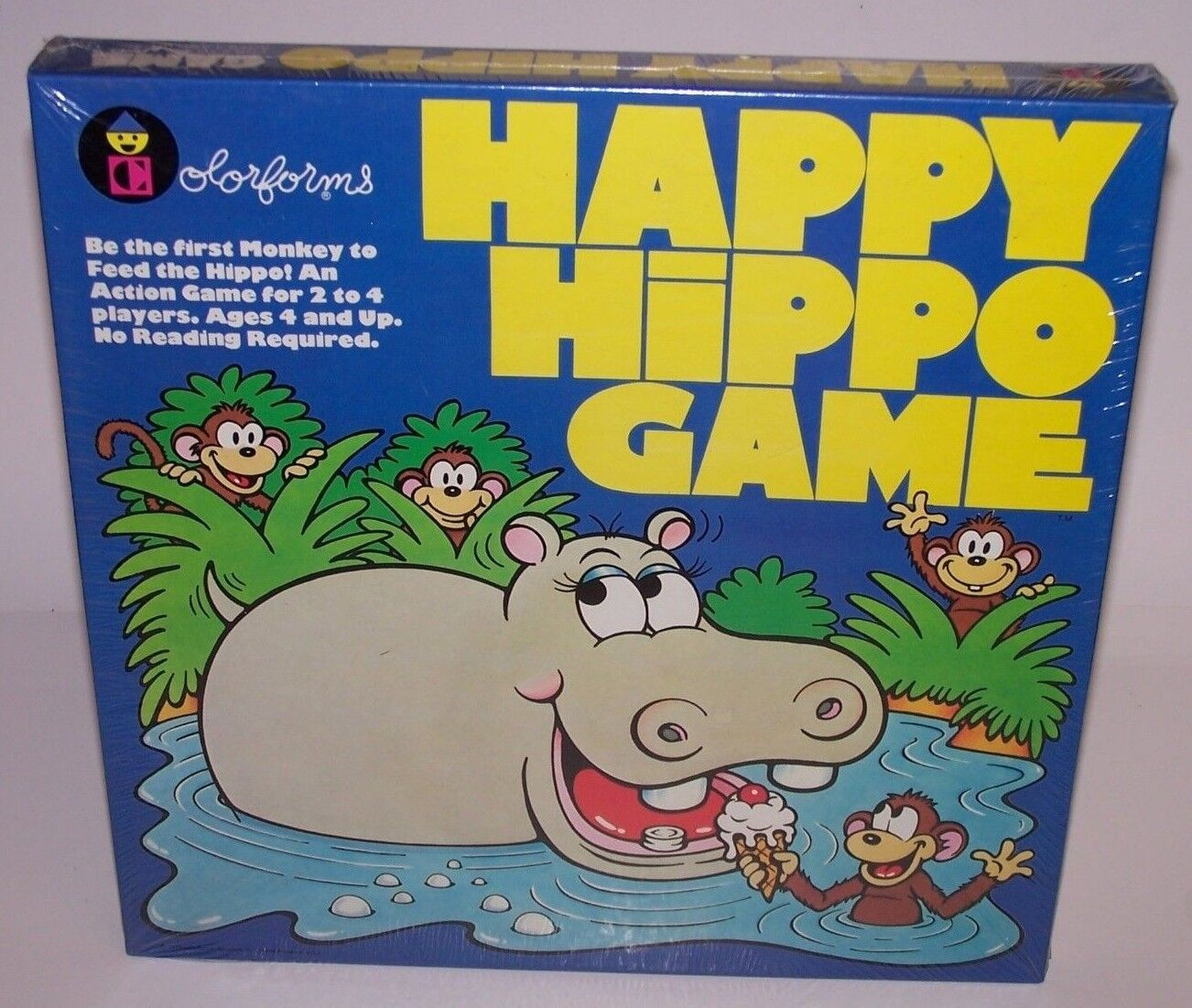Happy Hippo Game colorforms First Monkey to Feed the Hippo Sealed