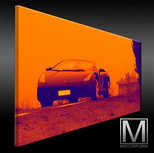 Echte Leinwand Bild Canvas Art Kunstdruck Leinwandbild Auto & Motorrad: Teile Accessoires & Fanartikel Offen Lamborghini Gallardo