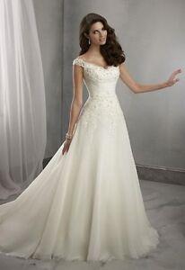 2016 New white/ivory Wedding Dress Bridal Gown Custom Size 6 8 10 12 14 16 18++