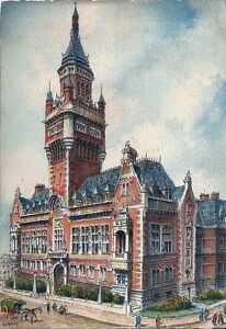 59-Dunkerque-L-039-Hotel-de-Ville-Illustrateur-Barday